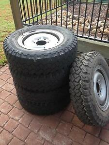 Toyota Hilux split rims and tyres Algester Brisbane South West Preview