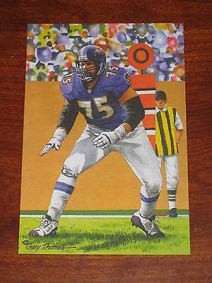 Jonathan Ogden Baltimore Ravens HOF Class of 2013 Goal Line Art Card GLAC MINT Baltimore Ravens Goal Line