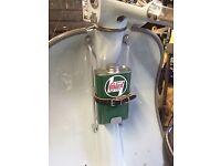 Lambretta Series 2 LI Oil Can Holder And Replica Can