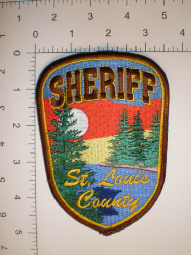 "MN Minnesota St Louis County Sheriff Police JACKET 5"" tall patch"