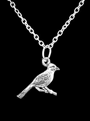 Cardinal Bird Animal Friend Sister Mom Son Christmas Gift Charm Necklace