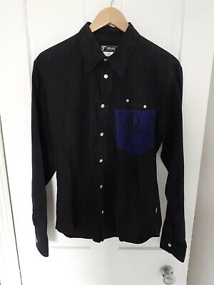 Versace Shirt Mens Large Black