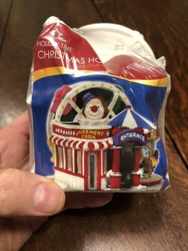 Holiday Time Ready To Paint Christmas Village Amusement Park New In Wrapper - $29.99