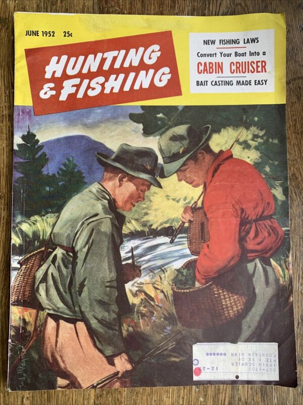 Hunting And Fishing Magazine June 1952 Advertising Harley Beretta Cabin Cruiser