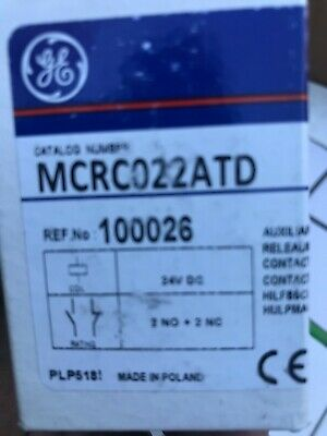 Ge Mcrc022atd Relay Mini Control 24vdc Coil 2no2nc Contacts 600vac