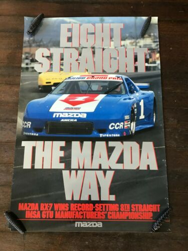 1970s Mazda RX-7 dealership racing poster.