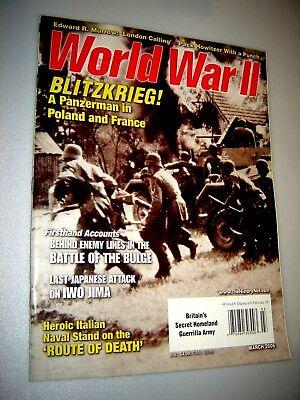 WORLD WAR II MAGAZINE MARCH 2006 - Nazi Blitzkrieg in Poland & France