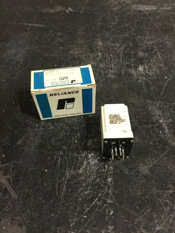 NEW, RELIANCE ELECTRIC, 600434-9V, TIME DELAY RELAY. (1C-3)