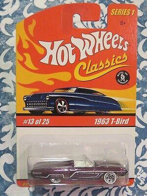 Hot Wheels Classics Series 1 Purple 1963 T-Bird - # 13 OF 25