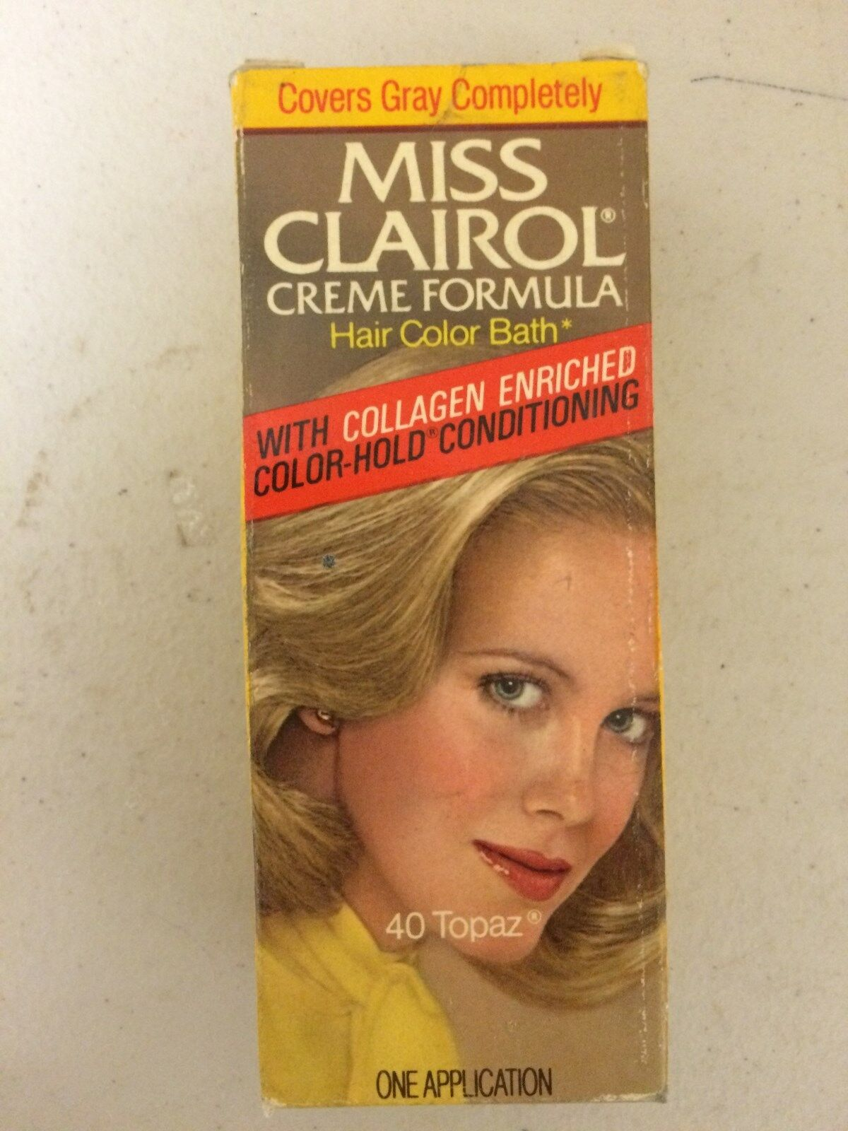 Vintage Miss Clairol Hair Color Bath With Collagen Enriched 40 Topaz