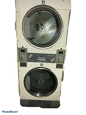 Huebsh Used White Stack Style Front Load Dryers Coin Operated