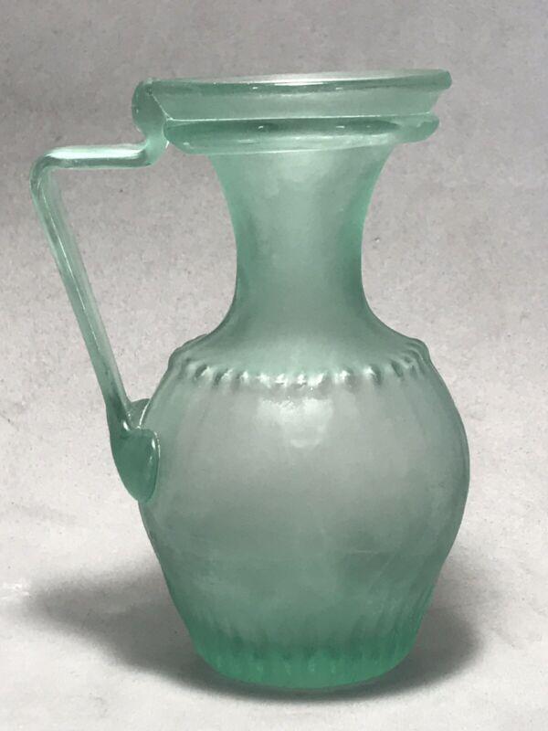 ANCIENT Roman Antique Blown Glass Pitcher Bottle Circa 200-300 AD amphoriskos