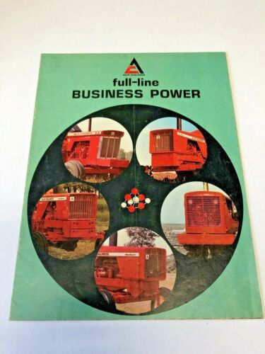 Vintage Allis Chalmers Brochure Full Line Business Power