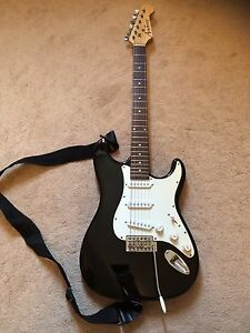 Stratocaster Style Electric Guitar with Case