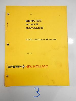 New Holland 302 Slurry Manure Spreader Parts Catalog Book Manual 385