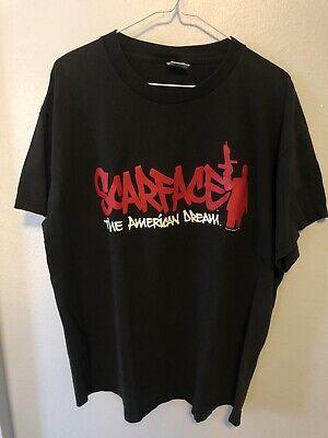 Vintage Scarface Movie Promotional T Shirt Size XL. Double Sided Tony Montana