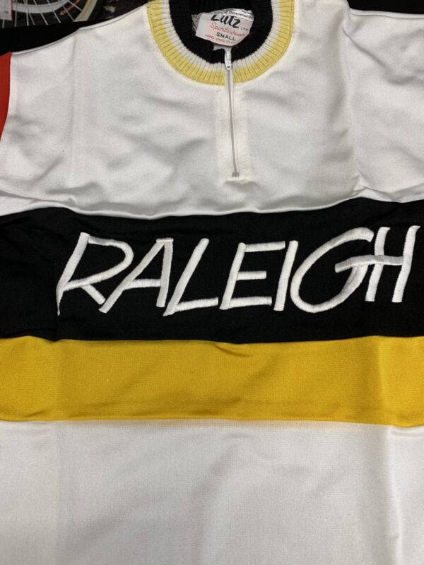Vintage 1970 Raleigh Cucling Jersey Small Made By Lutz In England