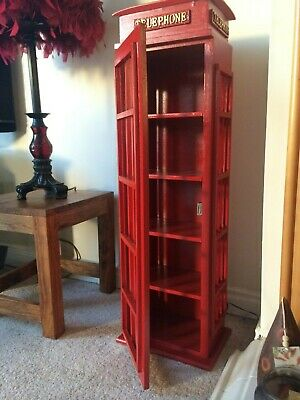 Retro Style London Telephone box - Cd Dvd storage cabinet up to...