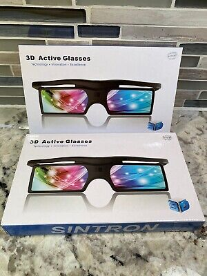 Two SINTRON 3d Active Shutter Glasses for 3d Televisions G15-BT