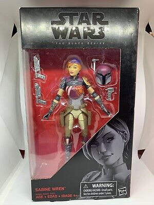 "STAR WARS BLACK SERIES SABINE WREN 6"" BOXED ACTION FIGURE DISNEY HASBRO REBELS"