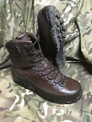 Genuine British Issue Brown cold Wet weather Iturri Boots!worn once! Size 9 M!