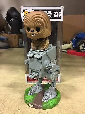 Funko POP! Star Wars Chewbacca with AT-ST #236 Collectible Toy Figure
