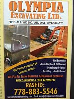Mini Excavating  & Drain tiles