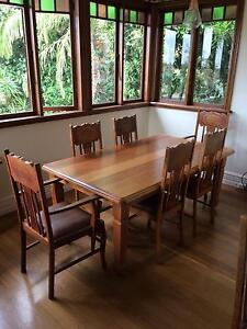 restored antique vintage dining suite Waverley Eastern Suburbs Preview