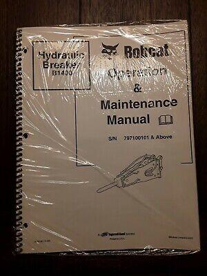 Bobcat Hydraulic Breaker B1400 Operation Maintenance Manual Sn 797100101