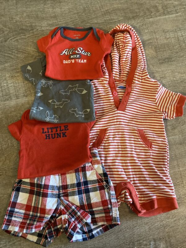 Baby Boy Old Navy & Carters 5pc Lot, Size 0-3m, Soo Adorable!