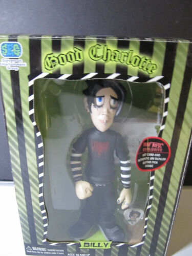 GOOD CHARLOTTE BILLY MARTIN ACTION FIGURE w/ TRADING CARD & GUITAR PICK 2004
