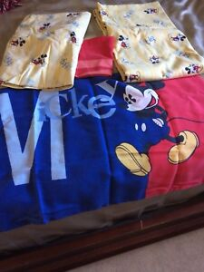 Mickey Mouse bedding and decor