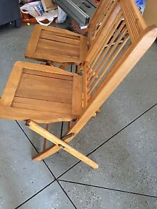 Wooden folding chairs  with table