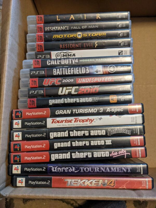 Playstation Game Bundle Ps2 Ps3 Controller
