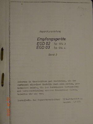 EGD 02, 03   deutsche Reparaturanleitung RA2, RFT / Funkwerk Köpenick