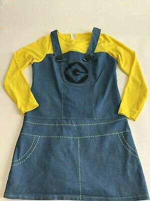 Despicable Me  Girl size S The Minion Costume Halloween dress zippered back