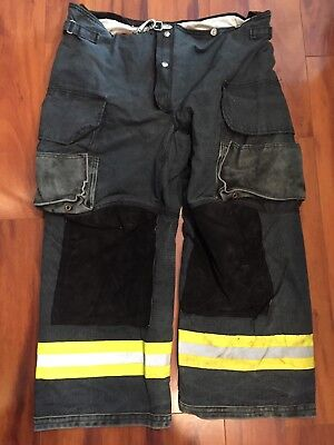 Firefighter Janesville Lion Apparel Turnout Bunker Pants 42x28 Black Costume