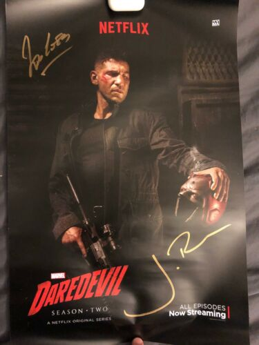 NYCC 2015 Marvels / Netflix Daredevil / Punisher Exclusive Signed Cast Poster