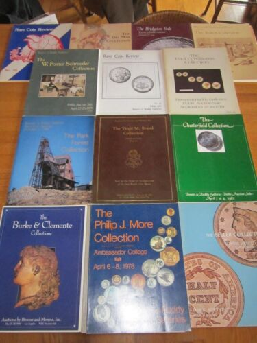 HUGE LOT OF 14 VINTAGE BOWERS & RUDDY GALLERIES AUCTION CATALOGS/BOOKS 1978-1994