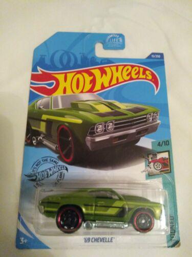 2020 Hot Wheels 69 Chevelle Green HW Tooned 4/10 2.00 Off S H Refund W/Bundled - $0.99