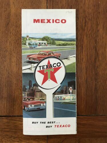 1960 Texaco oil company road map of Mexico