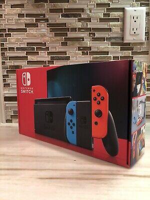 Nintendo Switch Neon Blue & Neon Red Joy-Con V2 - BRAND NEW IN HAND!
