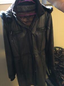 Danier leather coat (small)