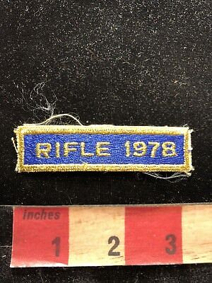 Vintage 1978 RIFLE COMPETITION Tab Patch Gun / Firearm / Ammo Related 83A1