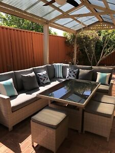 SOLD Pending pickup- Outdoor dining set, 10 seater
