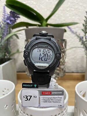 Timex Men's Expedition Digital CAT | Gray Case Black Resin Strap | Watch T40941