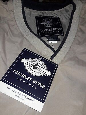 Charles River Apparel Mens Legend Windshirt, Light Khaki/Navy, Small