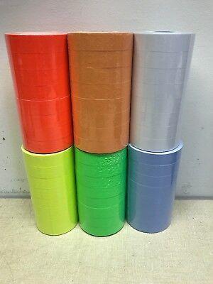 1136 Price Gun Labels For Monarch 1 Each White Green Yellow Red Orange Blue