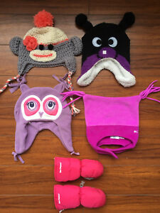 Size 2-3T Hats and Mittens