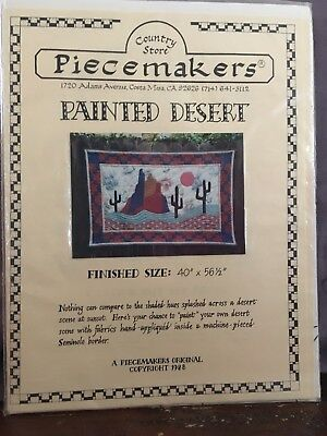 """Piecemakers: Quilt Pattern: Painted Desert: size 40""""x 56 1/2""""."""